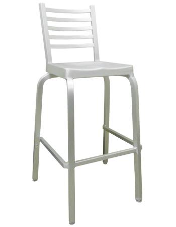 Pleasing Ladder Back Aluminum Barstool Download Free Architecture Designs Viewormadebymaigaardcom