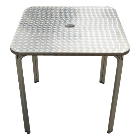 Aluminum patio table with umbrella hole - Aluminium picnic table with umbrella ...